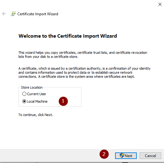 Manually installing root certificates in Windows (Chrome