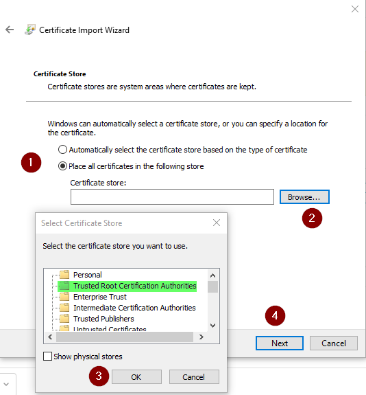Manually installing root certificates in Windows (Chrome & Internet ...